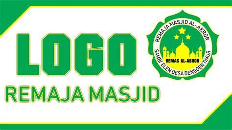 buat logo remaja masjid  photoshop youtube