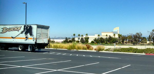 The Cinemark Century Stadium 25 and XD theater as seen from a Honda Center parking lot.