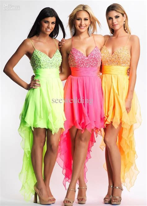 Green for Liz pink for me yellow for Caitlin   Dresses