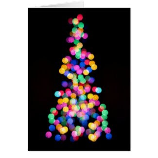 Blurred Christmas Lights Greeting Card