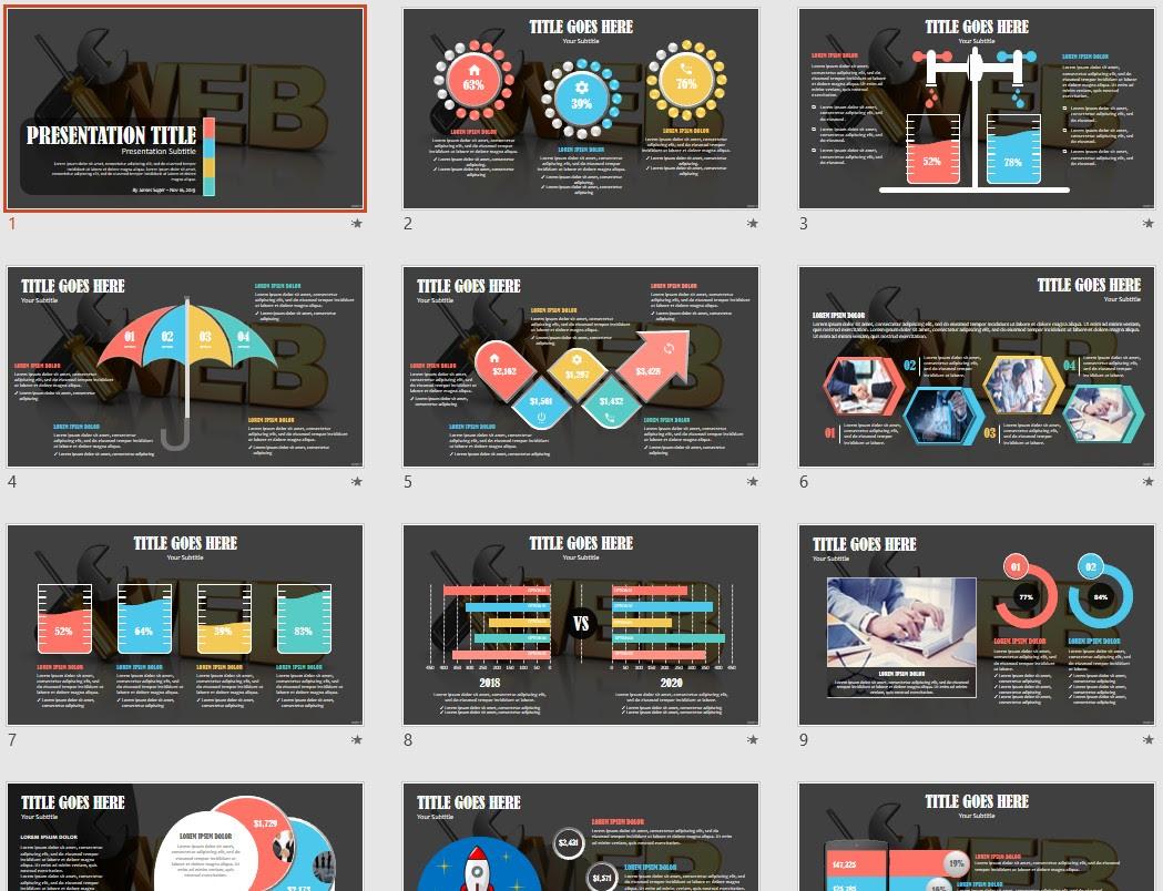 Web Development Powerpoint Template 167442