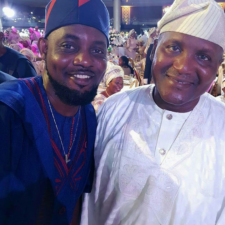 AY Makun And Aliko Dangote At Saraki's Daughter Wedding (Photos)