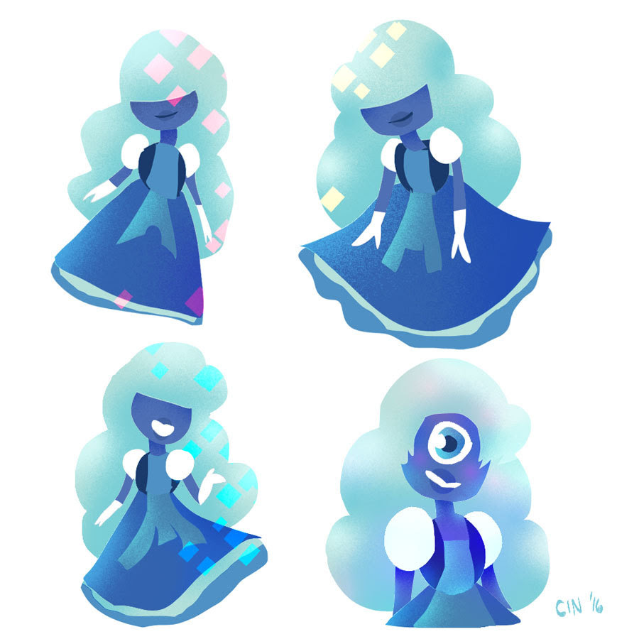 Sapphire and Ruby from Steven Universe! These were lasso tool speed doodles for practice.