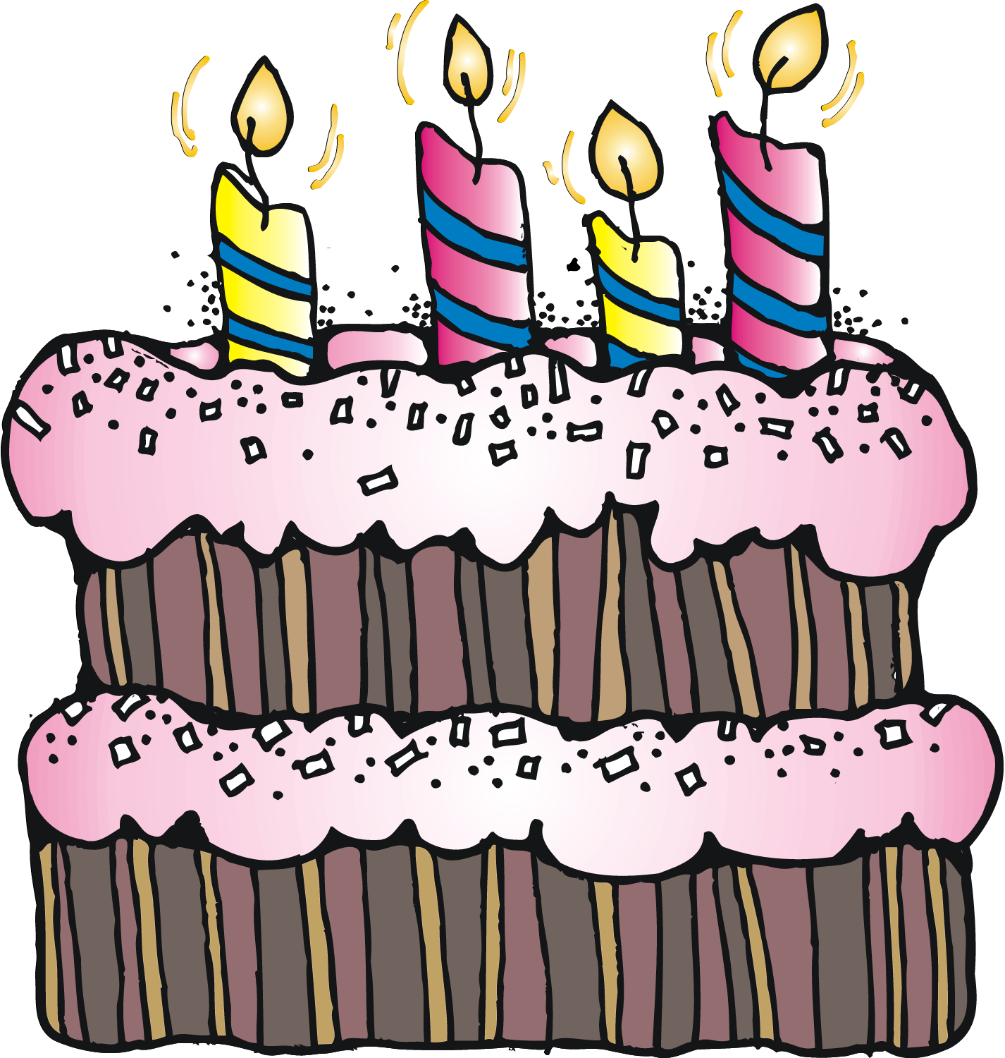 Vector Cute Birthday Cake Vector Clipart Royalty Free