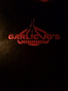 Garlic Jo's menu