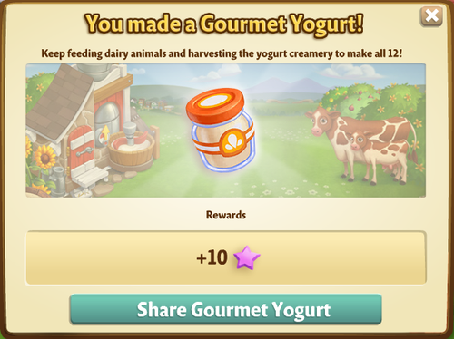Yogurt Creamery - Gourmet Yogurt - FarmVille 2