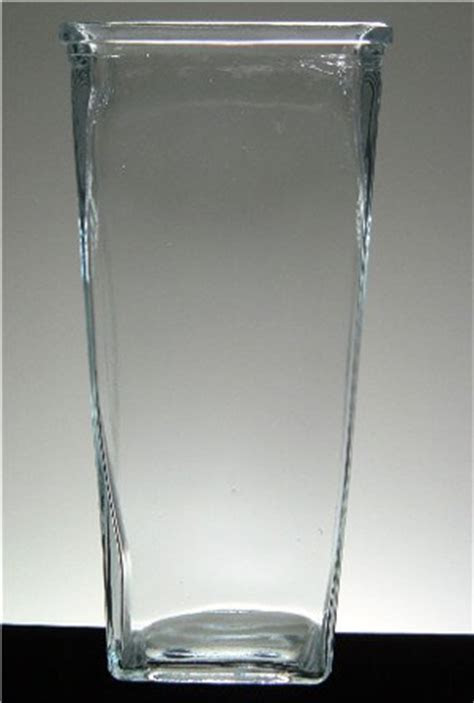 "Tapered Rectangular 9"" Glass Vase"