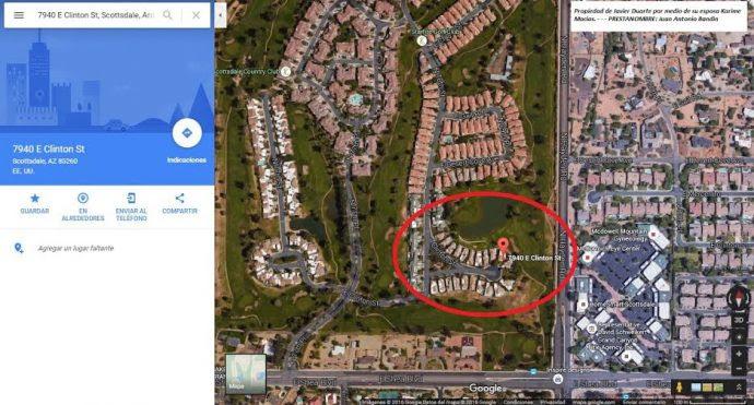 Gracias a Google Maps, se ubica la zona donde los presuntos prestanombres tienen sus residencias en Texas..