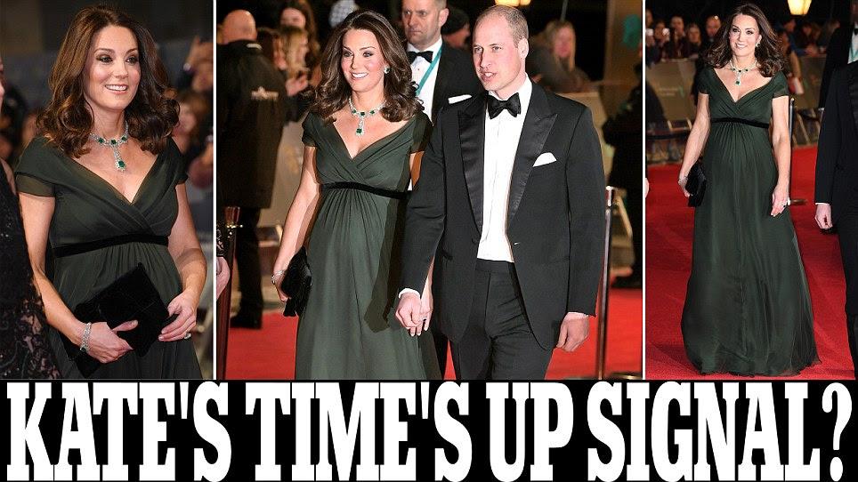 BAFTA: grávida Kate Middleton desafia o protesto Time's Up