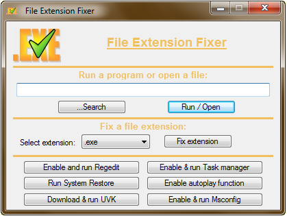 File extension fixer