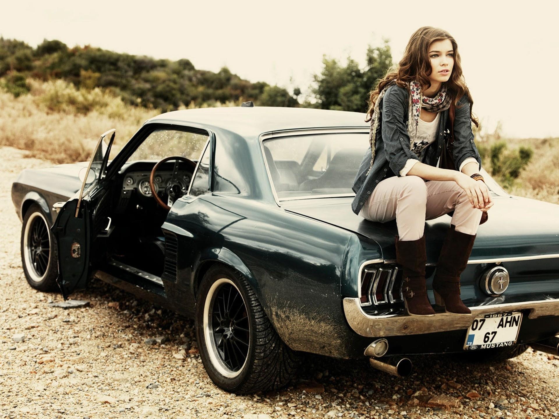Girls and Muscle Cars Wallpaper - WallpaperSafari