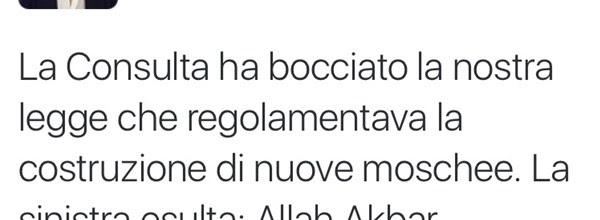 La Consulta boccia la legge della Regione Lombardia e dà il via libera alla proliferazione delle moschee