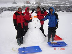 Bersama Snowman Kat Ski Resort Perisher Blue, Snowy Mountains, Australia