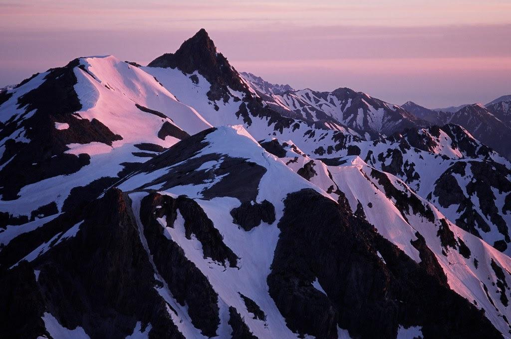 Yarigatake at sunrise