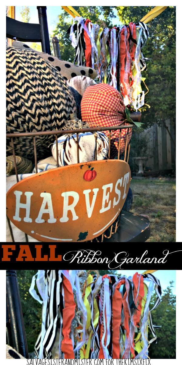 Do you save ribbons from packages? This DIY Fall Ribbon Garland is grea to use those up. Even if you don't have a stock pile of ribbon, this is a great craft for kids and makes lovely party decor. It's super simple and quick to make and very little supplies needed which makes for little waste.