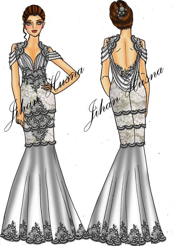 Gambar Desain Baju Jihan Husna Koleksi Gambar HD
