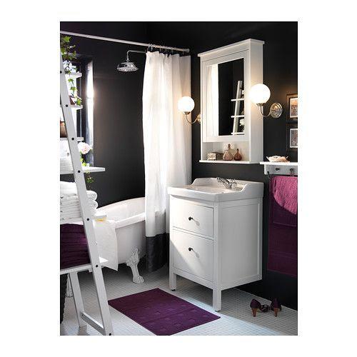 HEMNES Mirror cabinet with 1 door, white