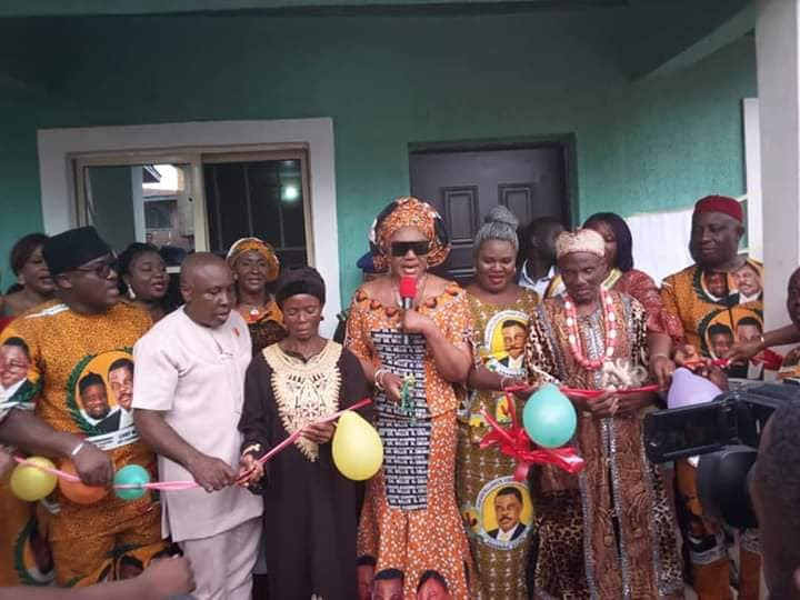 Mrs Obiano Hands Over Two Bungalows, Water Boreholes To Indigent Widows In  Ogbaru And Anambra West Council Areas