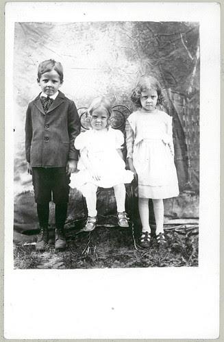Three unhappy children