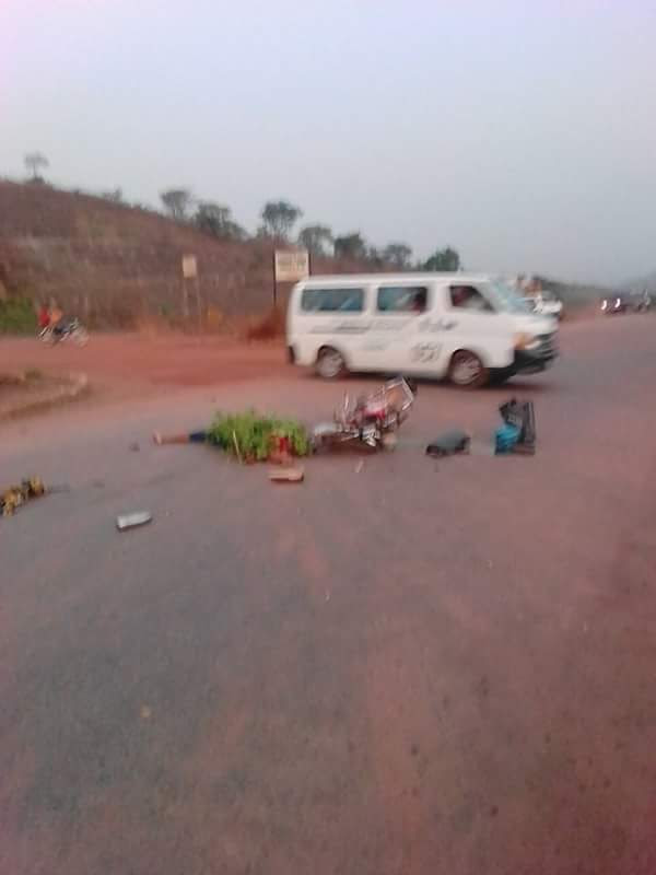 Photos: Dangote Trailer Crushes Lady Dead On Enugu-Port Harcourt Expressway