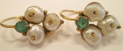 Antique Natural Pearl Earrings Daytime-Nighttime