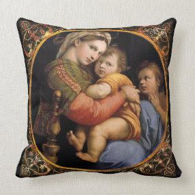 Raphael's Madonna Throw Pillow throwpillow