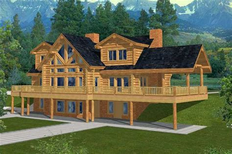 log cabin home plan  bedrms  baths  sq ft