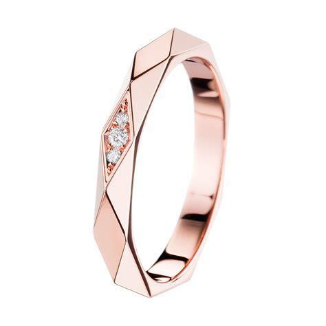 Alliance Facette or rose et diamants   Boucheron France