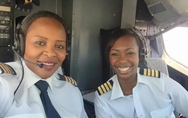 Chipo Matimba e Elizabeth Petros foram as primeiras mulheres a comandar cabine de Boeing 737