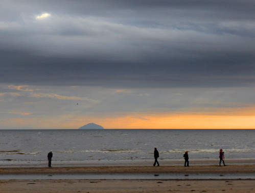 Ailsa Craig Sunset from Troon Beach by g crawford