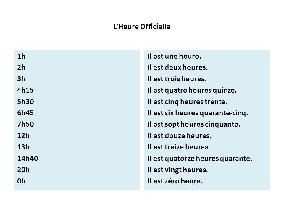 Godziny - słownictwo 21 - Francuski przy kawie