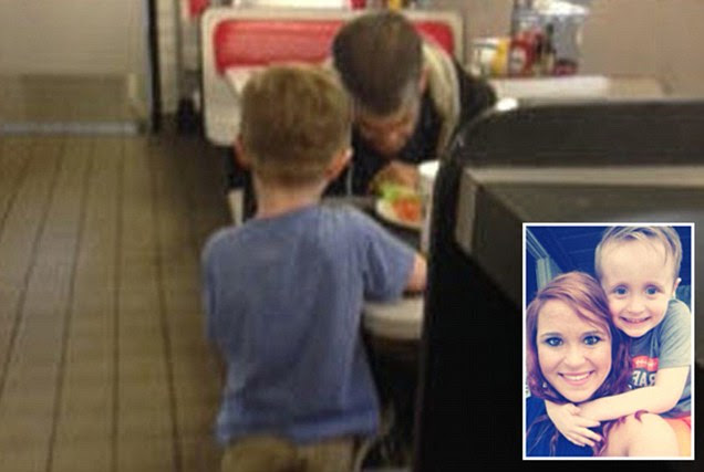 Josiah Duncan begs mother to buy homeless man dinner at Waffle House