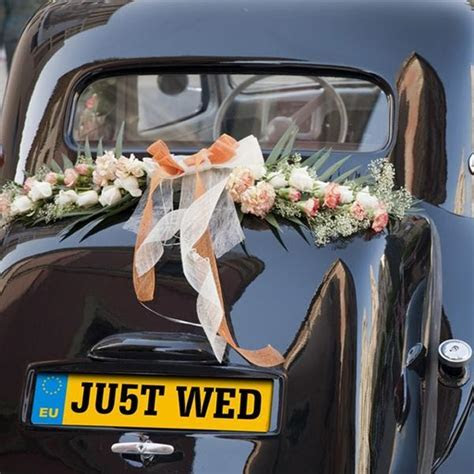 Wedding Car Decorations   Just Married Tin Cans, Number