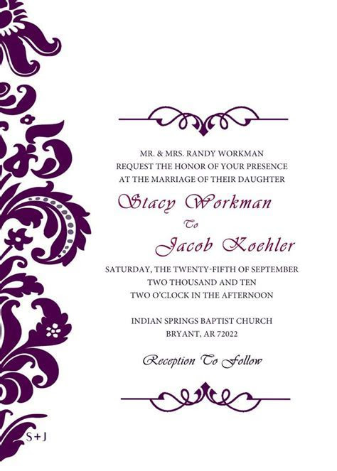 wedding invitation templates invitations wedding formal