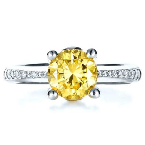 Canary Yellow Diamond Engagement Ring #1291   Seattle