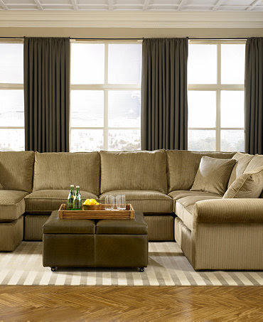 Virtual Fabric Sectional Living Room Furniture Collection ...