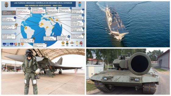 Récord del despliegue militar de España en el exterior: 3.966 efectivos en 20 misiones