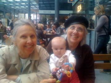 Charlotte with Babu and Grandma