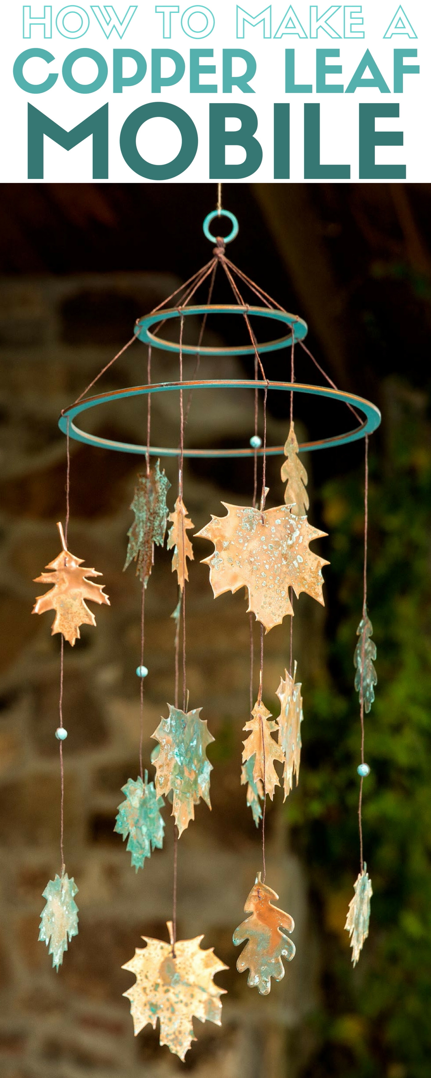 DIY Copper Leaf Mobile