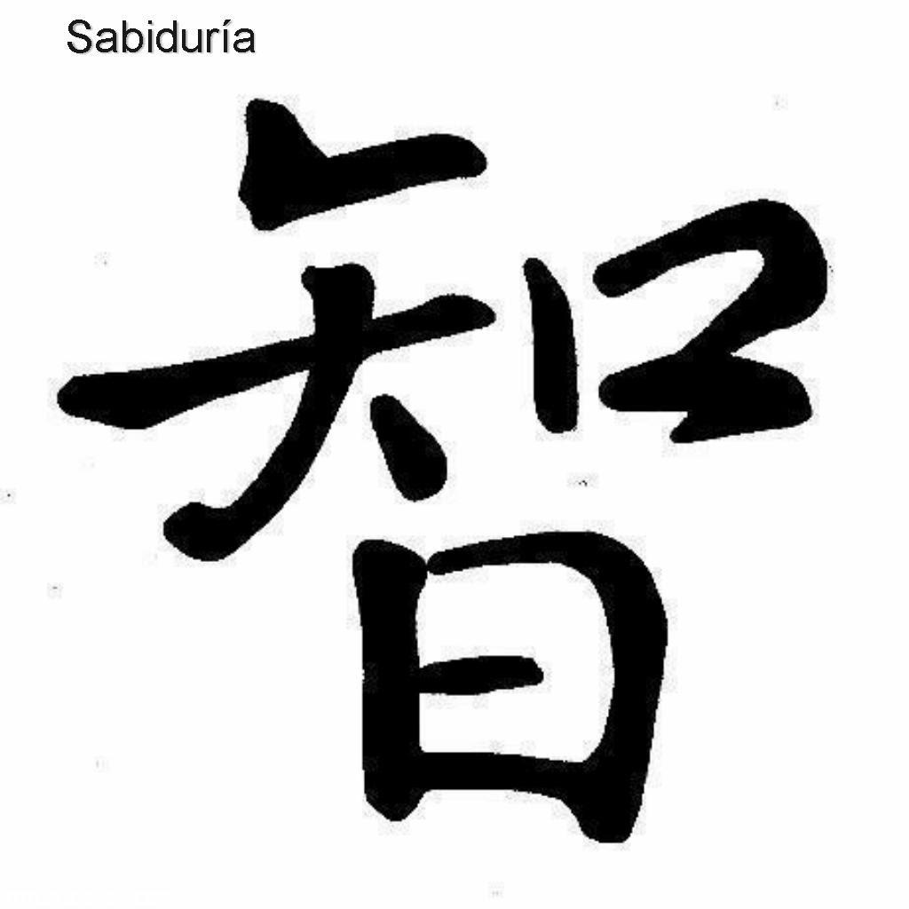 Sabiduria Escrito En Letras Chinas Tatuajes 123