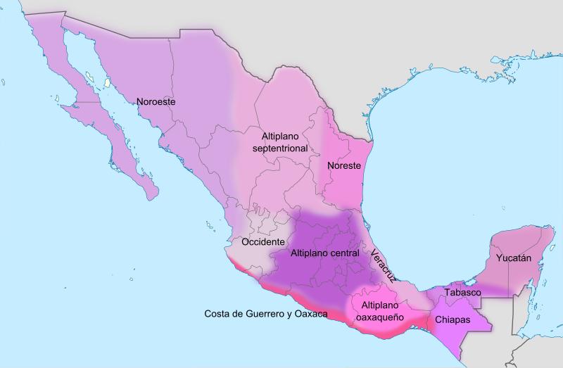 File:Mapa de las variedades del español en México (Lope).svg