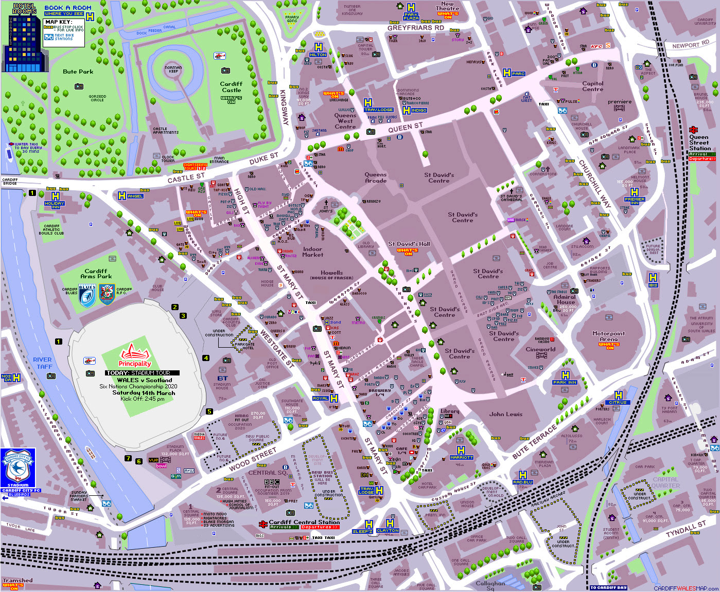 Cardiff City Centre Map Map Of Cardiff City Centre | Gadgets 2018
