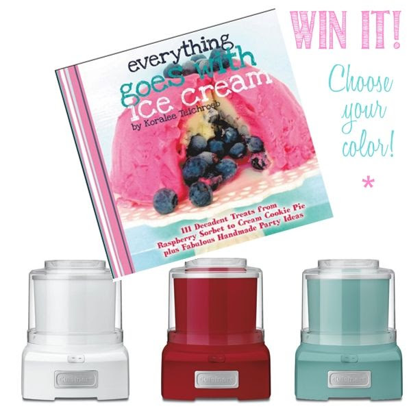 ice cream maker and book giveaway