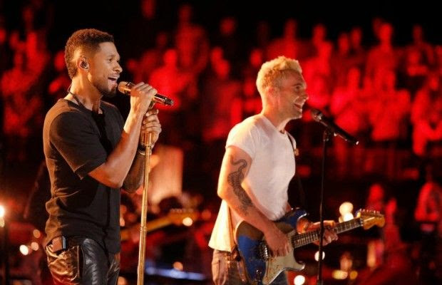 Usher & Adam Levine : The Voice - May 2014 photo Usher-Adam-Levine-Cover-DE28099AngeloE28099s-How-Does-It-Feel-620x400.jpg
