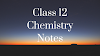 NIOS Chemistry Important Chapter Notes 2020