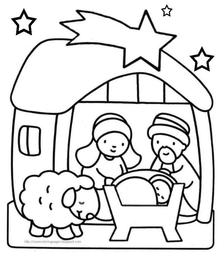 Jesus Christmas Coloring Pages For Kids - Drawing With Crayons