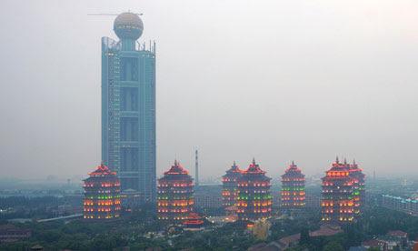 Η 328m-ψηλός πύργος στο Huaxi