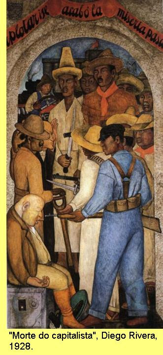 'Morte do capitalista', Diego Rivera, 1928.