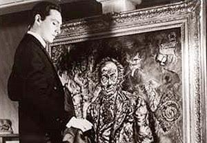 Dorian faces his portrait in the 1945 The Pict...