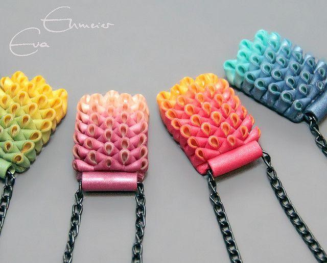 Polymer Artichoke pendants by Eva Ehmeier, aka Hoedlgut.